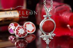 Kameleon Jewelry Jewel Pop of the Week KJP146 shown in Kameleon Jewelry Pendant KP014