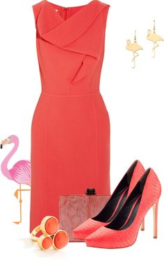 """Pretty Flamingo"" by pollydickson ❤ liked on Polyvore"