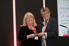 This is me accepting my 2017 Epic Romantic Novel of the Year Award for Little Girl Lost from the lovely Prue Leith