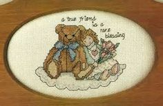 True Friend Friendship Cross Stitch Pattern from magazineTeddy bear ...