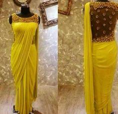 Saree Gown, Lehenga, Kurta Designs, Saree Blouse Designs, Indian Designer Outfits, Designer Dresses, Indowestern Gowns, Saree Trends, Trendy Sarees