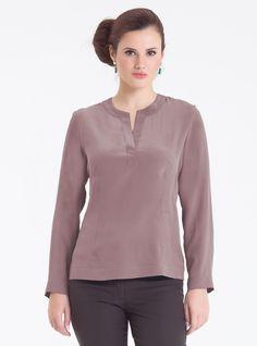 Блузка из шелка Ramona 2-067, какао