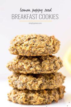 Lemon Poppy Seed Quinoa Breakfast Cookies