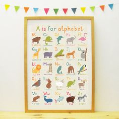 Animal Alphabet poster by PaperPenknife on Etsy