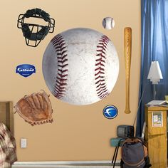 Baseball Theme Room Wall | Assorted Baseball Graphics - General Sports Graphics - General ...