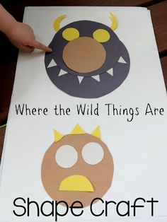 Read Where the Wild Things Are then create a shape monster craft with kids