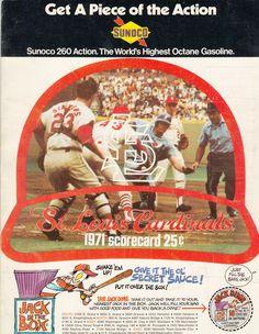 1971 Cardinals Scorecard