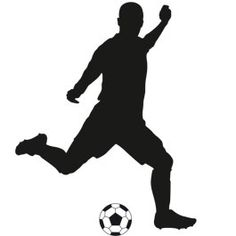 For the boy's room Soccer Theme, Football Birthday, Sports Wall Decals, Vinyl Wall Stickers, Decorative Stickers, Girl Playing Soccer, Soccer Silhouette, Soccer Bedroom, Football Tattoo