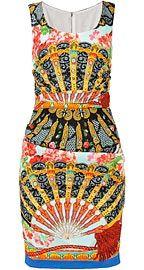 DOLCE & GABBANA Шелковое облегающее платье с принтом