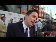 The last question - OMG! STUPID WOMAN. And Matt walks away.  Matt Bomer talks #AHS at the Premiere of Magic Mike XXL Red Carpet #MagicMikeXXL #ComeAgain - YouTube