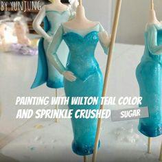Elsa Fondant Figurine Tutorial #4