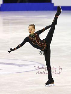 Julia Lipnitskaia Black Figure Skating / Ice Skating dress inspiration for Sk8 Gr8 Designs