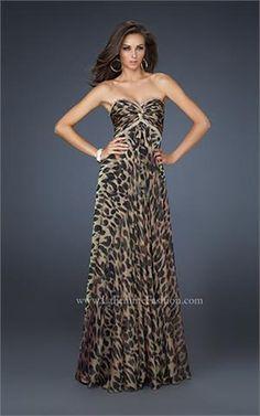cheetah print prom dresses | ... of the La Femme Leopard Print ...
