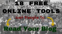 Are you one of the many people that want to know how to get traffic to your blog? In this post I give you 18 FREE tools to get people to read your blog