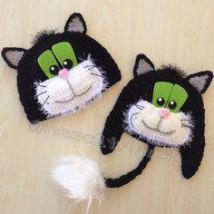 İyi geceler #crochet #cat #hats #crochetcat #beanie #cathat #crochethats #crochetlover #yarn #knitted #knithats #knitting #mutluhaftasonlari #pisikedi #orgu #bere #kedi #kedicik #sapka #handmade #neseliyumak #annekiz #babaogul #unisex #siparis