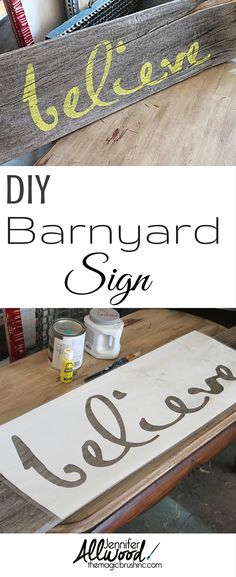 Paint barn wood with a stencil to get a beautiful home decoration with lots of style and texture! More painting tips and DIY projects at theMagicBrushinc.com