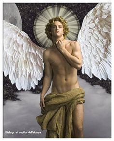 Manscapes, A panoply of men from the classic male nude to humorous. The male physique. Men as objects of beauty and sexual desire through the ages. Angels Among Us, Angels And Demons, Art Masculin, Marah Woolf, Male Angels, Tableaux Vivants, Angel Warrior, Guardian Angels, Gay Art