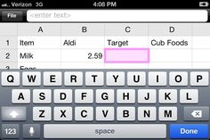 Create a Price Book on your smartphone to track grocery prices and save BIG  $$$