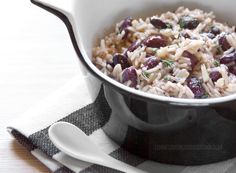Coconut rice and peas