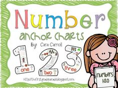 """If you're looking for a fun visual to introduce and reinforce numbers, you need these number anchor charts for your classroom!  Display these in your classroom and use as a resource throughout the year.  Your kids will love referring back to them!  Click on the """"preview"""" button to see what's included!***If you're looking for more printables and activities to accompany these anchor charts, check out my """"Don't Forget My Number"""" packet."""