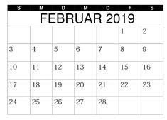 Kalender 2019 Februar Spanish, German, Math Equations, Words, February, Holiday, Calendar, Deutsch, German Language