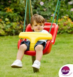 Tesco direct: Plum Baby Swing Seat with Extensions, Red Baby Swing Seat, Baby Swings, Kids Furniture, Outdoor Furniture, Tesco Direct, Kids Swing, Special Needs Kids, Outdoor Play, Porch Swing