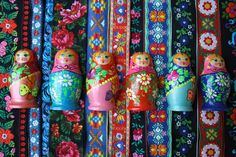 russian dolls and ribbons