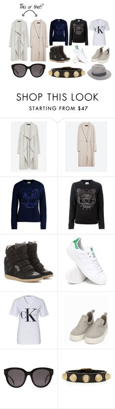 """""""Untitled #533"""" by annabel17 ❤ liked on Polyvore featuring Zara, Kenzo, Isabel Marant, adidas, Nly Shoes, CÉLINE, Balenciaga and Zadig & Voltaire"""