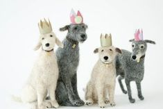 Needle felted dogs by Domenica More Gordon: