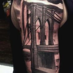 Tatuaje de edificios tattoo tatuajes and tatting for Brooklyn tattoo ideas
