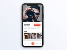 Unsplash Profile Page iOS concept by Med Badr Chemmaoui - Dribbble