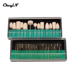 "30pcs 3/32"" Shank Size Nail File Bits + 13pcs Nail Drill Bit Manicure Pedicure Accessories Professional Electric Nail File Tools"