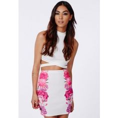 Serenada Floral Side Panel Mini Skirt - Mini Skirts - Missguided
