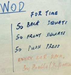 Maybe back squats, power cleans, then push press with 30 DU between each movement