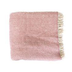 Dusky Pink Beehive Throw