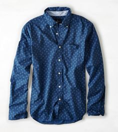 AEO Printed Button Down Shirt