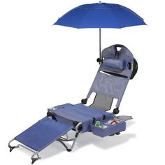 The Only Complete Beach Lounger - Hammacher Schlemmer. Okay...this is serious stuff here. I need one of these for sure! Holds up to 12 cans of soda, four wine bottles....well; that's all I need to know. haha.