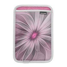 Flower waiting for a Bee Abstract Fractal Art iPad Mini Sleeve