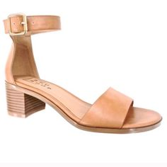 New - Tan Sandals Tan Honey Sandals. Faux leather. Sizes 7. See photos for measurements. Please Note: Shoe will not fit if you have wide feet. Please ask questions if you are not sure. Shushop Shoes Sandals