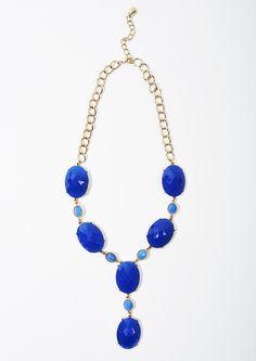 Blue statement neck Charming Charlie Renaissance at Colony Park 601.605.2105 #shoprenaissance