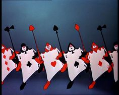 The Playing Cards - Alice in Wonderland (inspiration for a Valentine's Day craft)