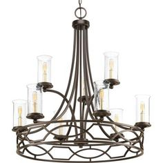 Progress Lighting - P400038-020 - Nine Light Chandelier -
