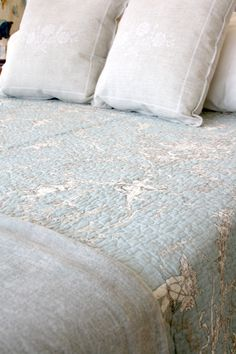 Linen & Soft Furnishings - Bay Tree Home & Decor Tree Furniture, Duck Egg Blue, Soft Furnishings, New Homes, Throw Pillows, Quilts, Beautiful, Toile, Toss Pillows