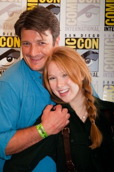 nathan fillion and molly quinn I loved watching Molly grow up through the Castle seasons!