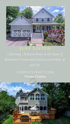 In The Heart, Real Estate Marketing, Small Towns, Vienna, Acre, Virginia, Mansions, House Styles, Home Decor