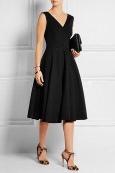 Wool-blend gabardine dress