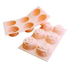 Silikomart Silicone Fancy and Function Multi Cake Pan, Rose Pan N Ice, Rose Online, Cupcake Pans, Baking Supplies, Kitchen Supplies, Kitchen Tools, Kitchen Gadgets, Ice Molds, Fancy Desserts
