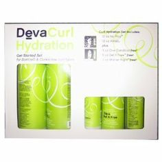 Deva Curl Hydration Set by Deva Curl. $47.50. Perfect Curls Start Here! DevaCurl Get Started Sets offer curls all they need to easily achieve perfect hydration and definition, whether curl type is s wavy, wavy, botticelli or corkscrew. The 5-piece Hydration Get Started Set gives botticelli and corkscrew curls the ability to avert dehydration and control frizz and ...