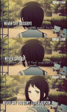 Anime Quotes animequotes is part of Anime love quotes - Sad Anime Quotes, Manga Quotes, Anime Quotes About Love, Anime Motivational Quotes, Quotes Inspirational, Love Hurts, Sad Love, A Silent Voice, Dark Quotes