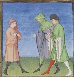 Publius Terencius Afer, Comoediae [comédies de Térence] ca. 1411;  Bibliothèque de l'Arsenal, Ms-664 réserve,  200r